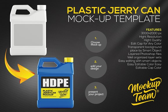 Download Plastic Jerry Can Mock up Template