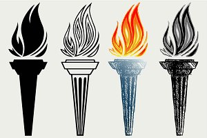 Burning torchs SVG