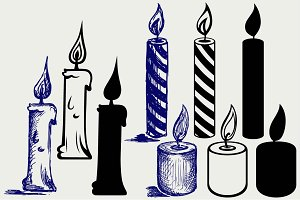 Burning candle SVG
