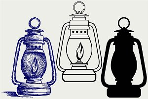 Kerosene lamp SVG
