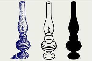 Oil lamp SVG