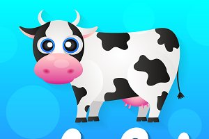 Cartoon cow animal