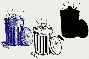 Trash bin SVG
