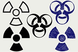Biohazard icon SVG