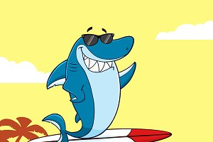 Shark Character With Sunglasses