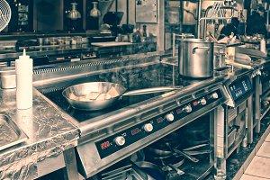Professional kitchen interior