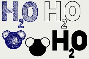 H2O symbol SVG