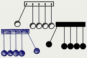 Newton's cradle SVG