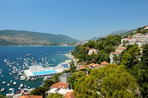 View on towns Herceg Novi and Igalo