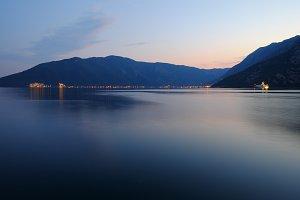 Evening in Kotor Bay, Montenegro