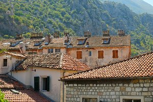 Roofs in old town of Kotor
