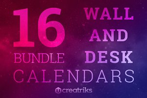 Bundle Wall and Desk Calendars