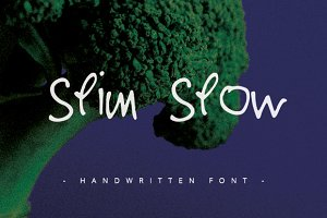 Slim Slow - Handwritten Font -