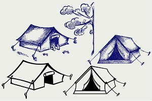 Canvas tents SVG