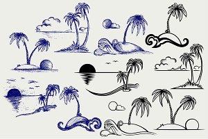 Tropical islands SVG