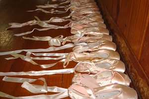 Pretty Pointe Shoes All In A Row