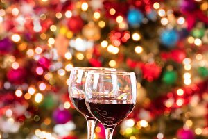 Seasonal Holiday Red Wine