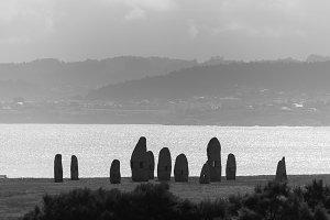 Menhirs in La Coruna.