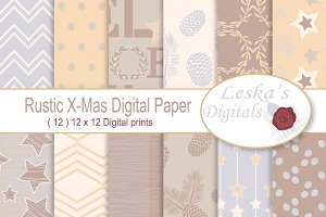 Rustic Christmas Digital Paper