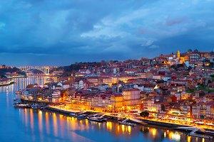 Porto at twilight, Portugal