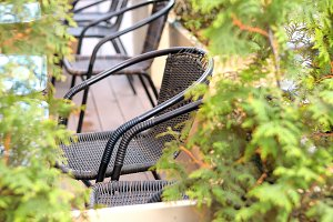 Wicker garden chairs