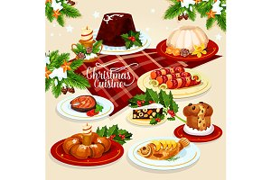 Christmas festive dishes menu