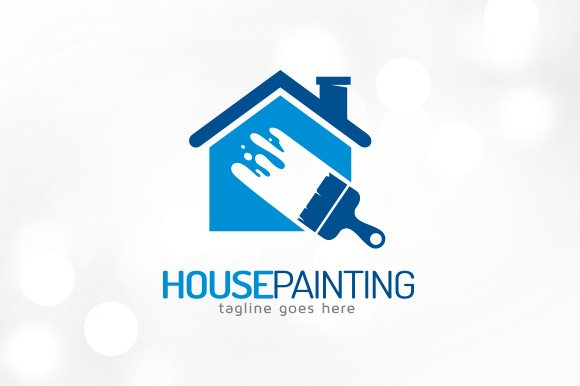 House painting logo template logo templates creative for Painting and decorating logo ideas