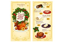 Christmas holidays restaurant menu