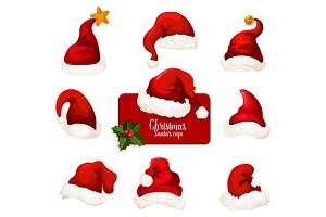 Christmas Santa hats set