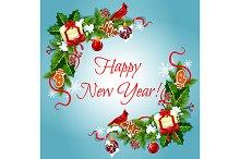 Happy New Year holiday frames