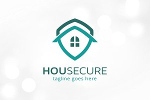 House Secure Logo Template
