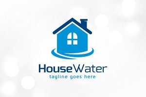 House Water Logo Template