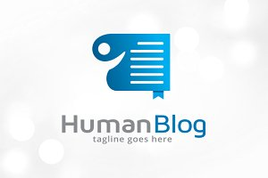 Human Blog Logo Template