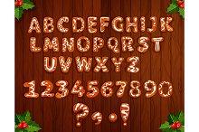 Christmas gingerbread alphabet