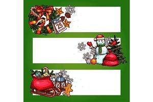Christmas holidays banners