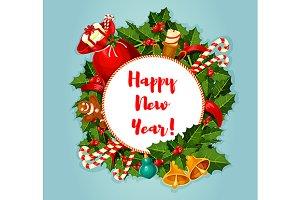 New Year round poster