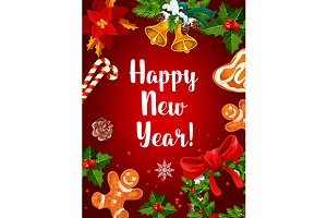 Happy New Year holiday poster