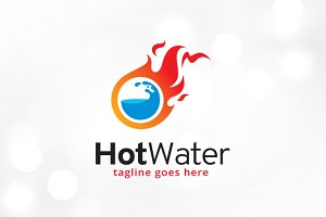 Hot Water Logo Template