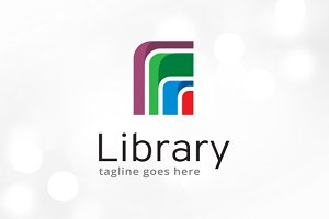 Abstract Library Logo Template