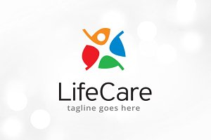 People Life Care Logo Template