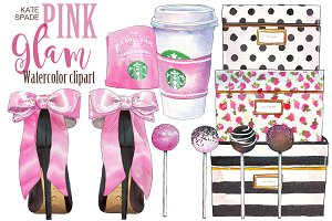Kate Spade Pink Glam clipart