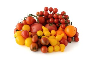 Group of different tomato