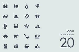 Switzerland icons