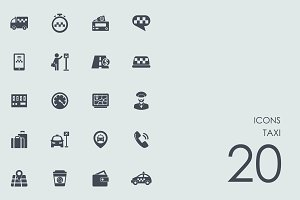 Taxi icons