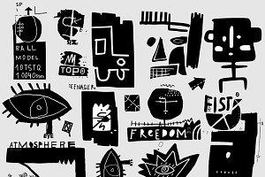 Symbols graffiti