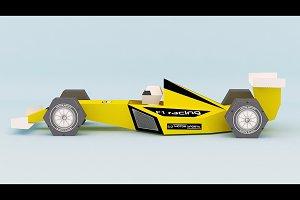 DIY Formula One Car - 3d papercraft