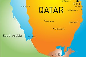 map of Qatar country