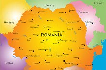 map of Romania country