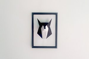 DIY Fox Frame - 3d papercraft