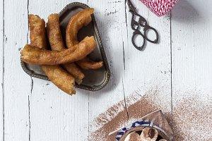 Hot chocolate with spanish churros